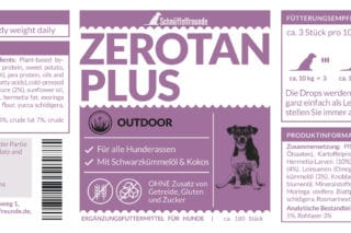 Zerotan Plus Etikett