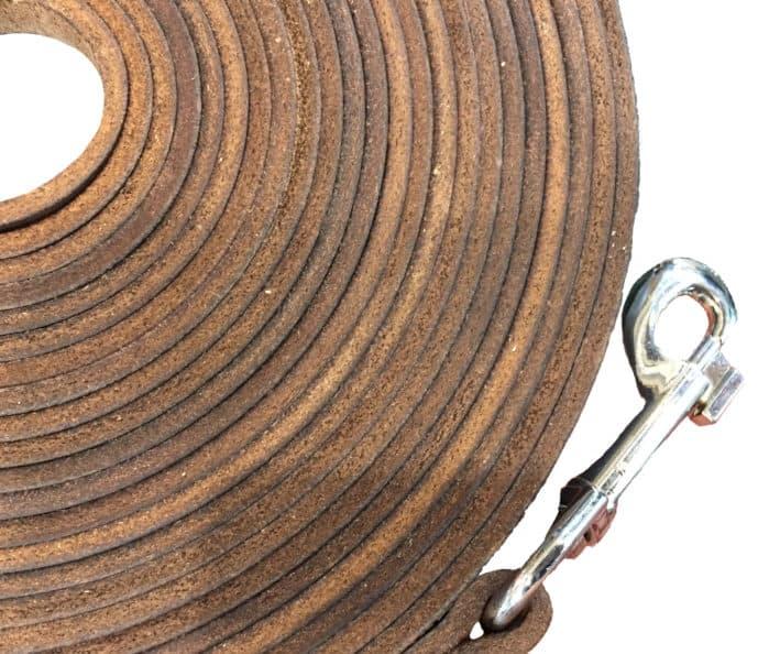Schleppleine für Hunde 10m aus Leder